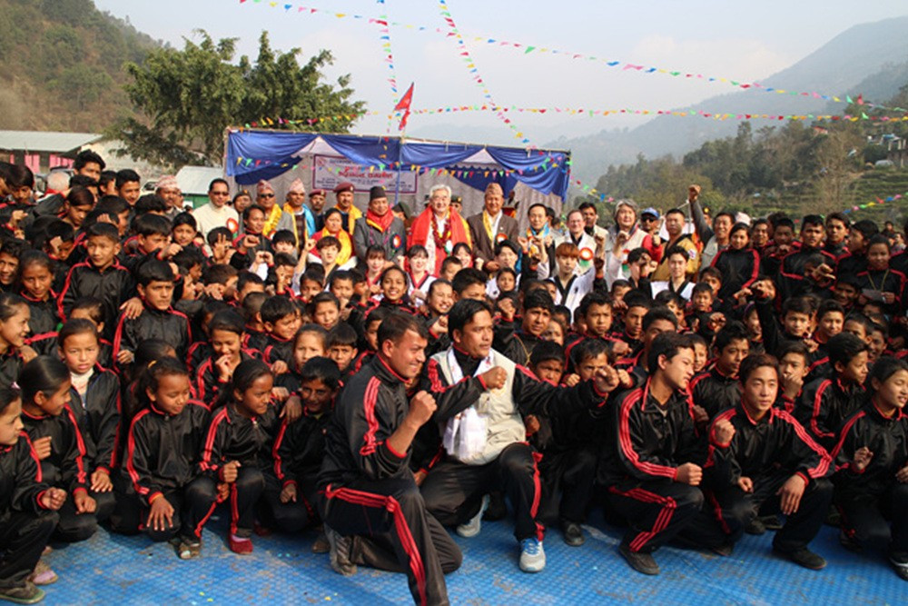 WTF Taekwondo Humanitarian Foundation pilot project launched with ceremony in Nepal