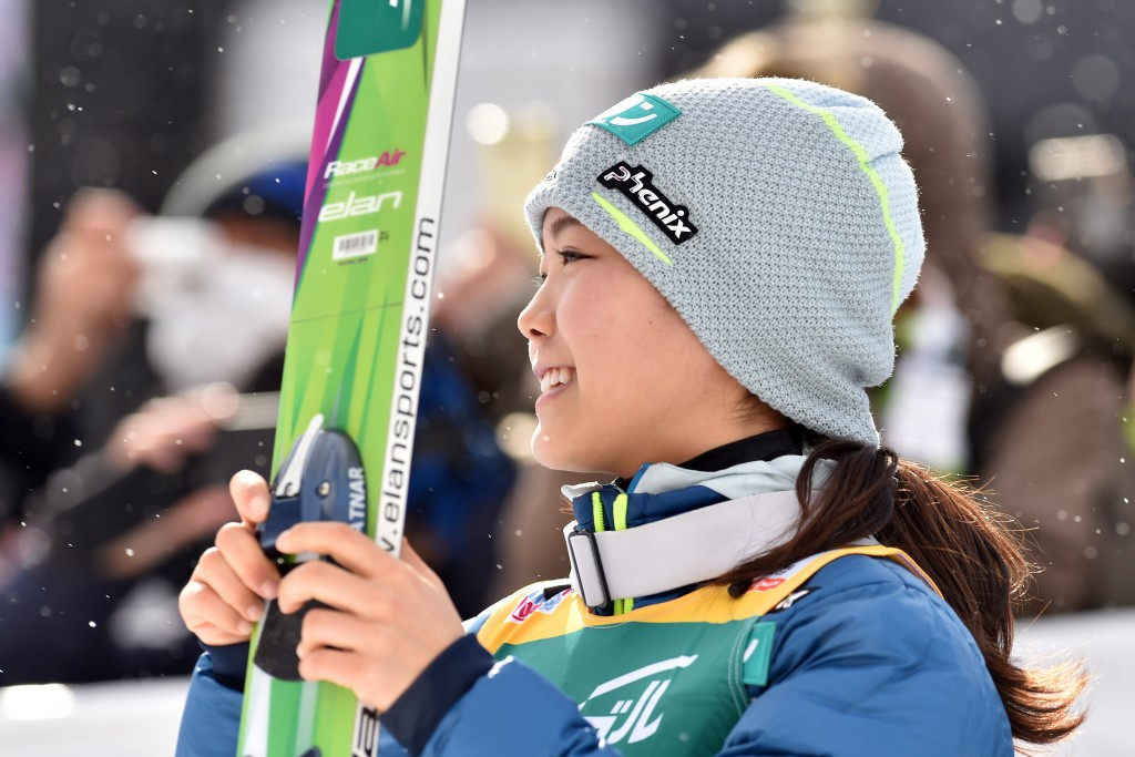 Sara Takanashi continued her blistering World Cup form with victory ©Getty Images