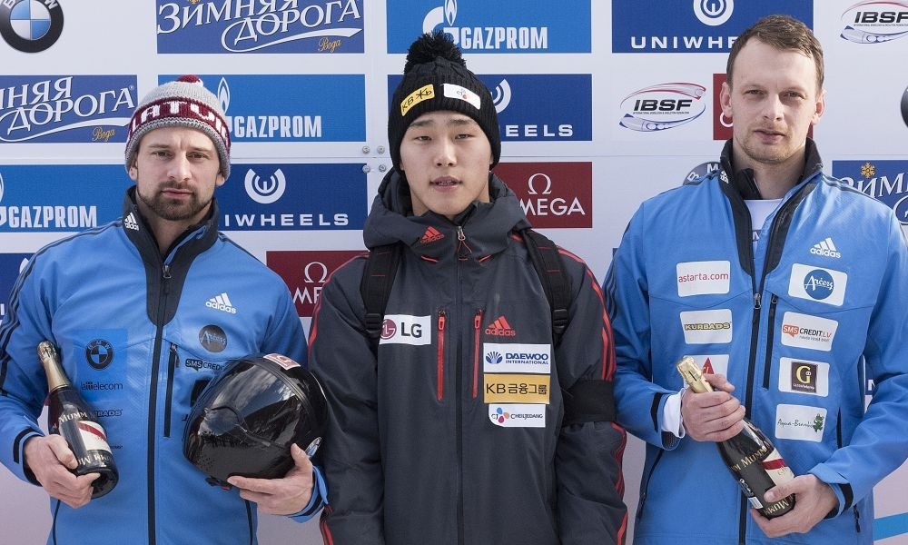 South Korea celebrates first World Cup skeleton winner as Dukurs brothers share European title