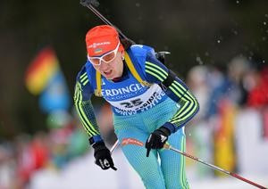 Ukrainian Olympic gold medallist fights back to claim first victory at IBU World Cup since maternity leave