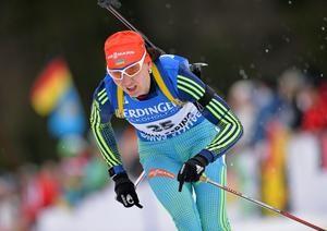 Ukraine's Olena Pidrushna claimed victory in the women's sprint race ©IBU