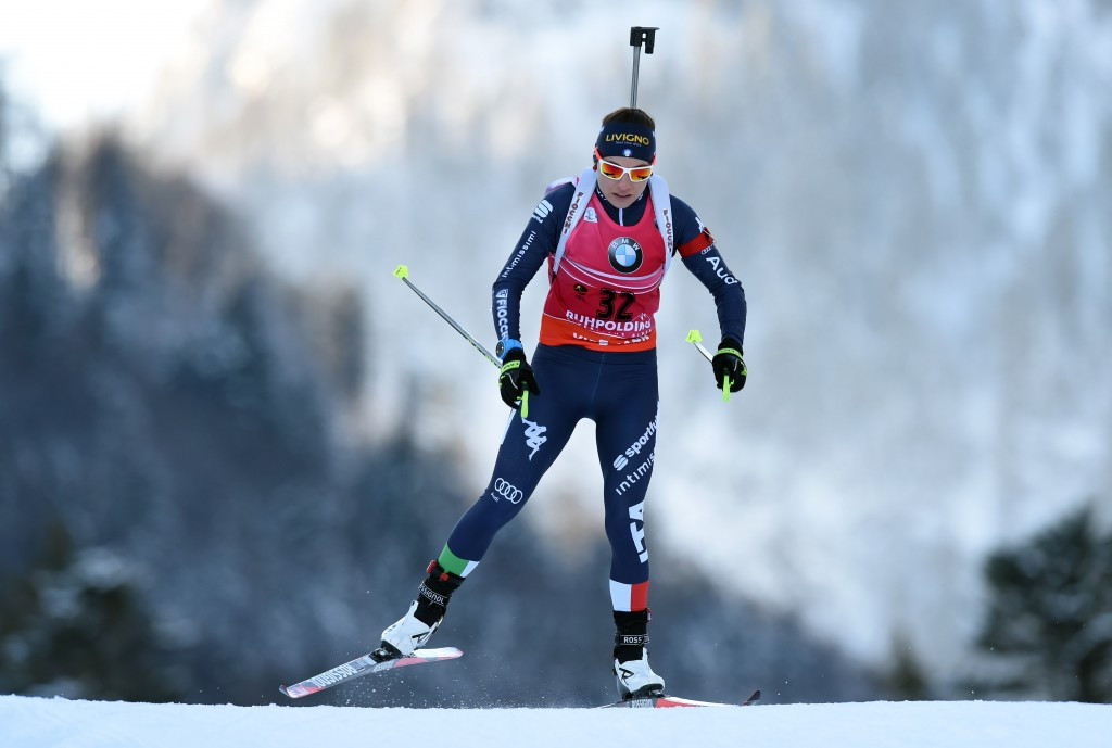Dorothea Wierer of Italy's third place finish helped her climb to second on the overall leaderboard