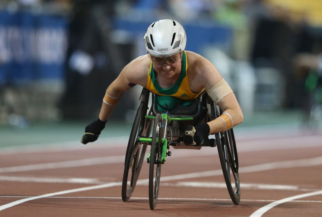 Home hope Ballard secures hat-trick of golds on opening day of IPC Athletics Grand Prix in Canberra