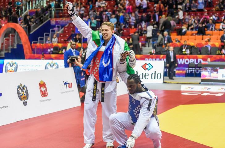 Uzbek seals world heavyweight taekwondo title after golden-point double