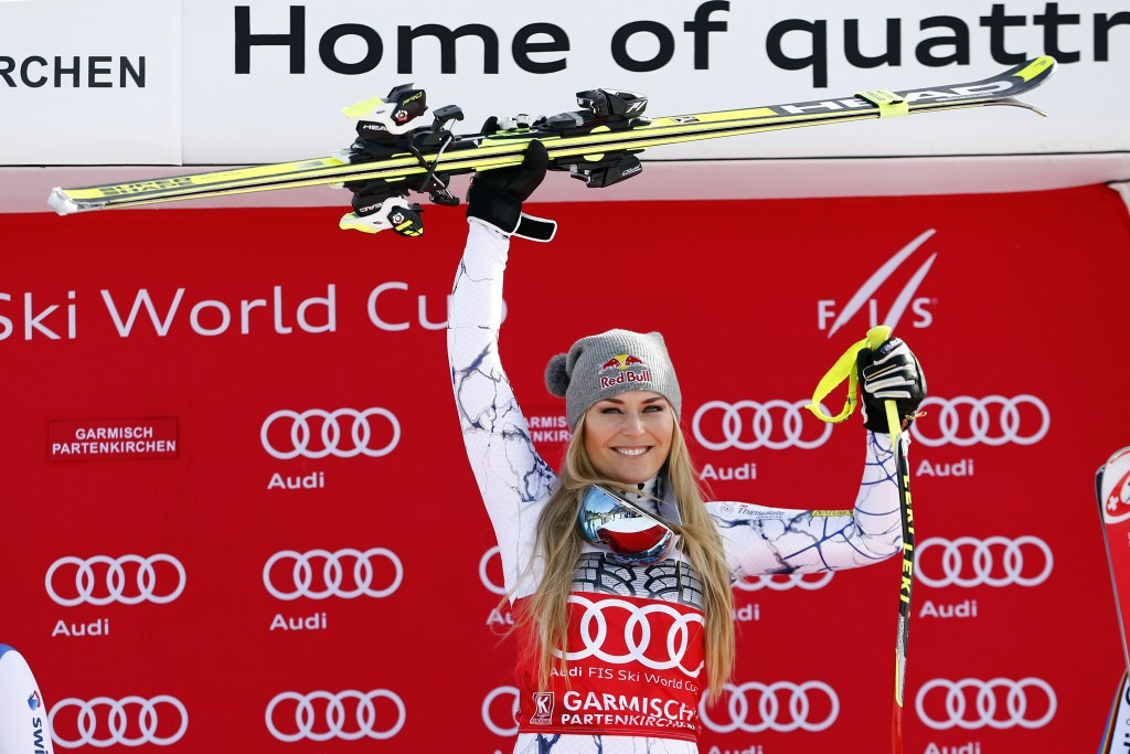 Vonn extends overall World Cup lead after winning downhill race in Garmisch-Partenkirchen