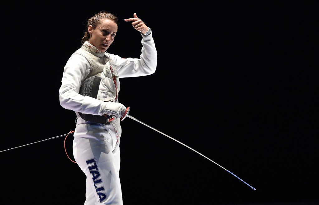 Italy's Elisa Di Francisca won the individual women's foil event in Algiers