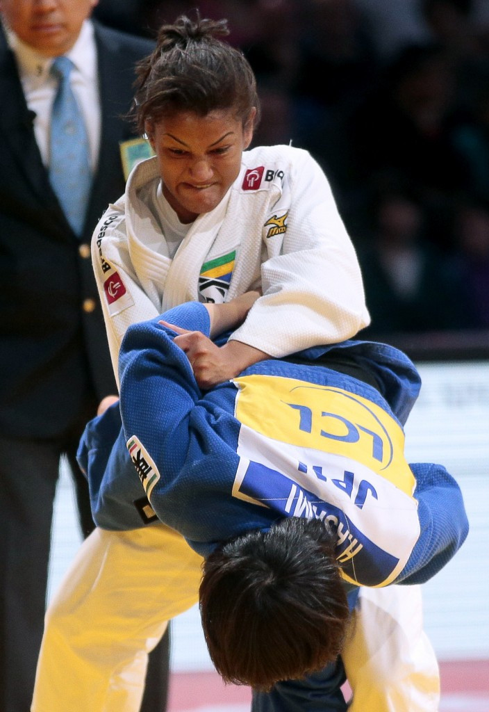 Brazil's Olympic gold medallist and Rio 2016 hope Sarah Menezes won the bronze medal in the under 48kg division with victory over Japan's Haruna Asami ©Getty Images