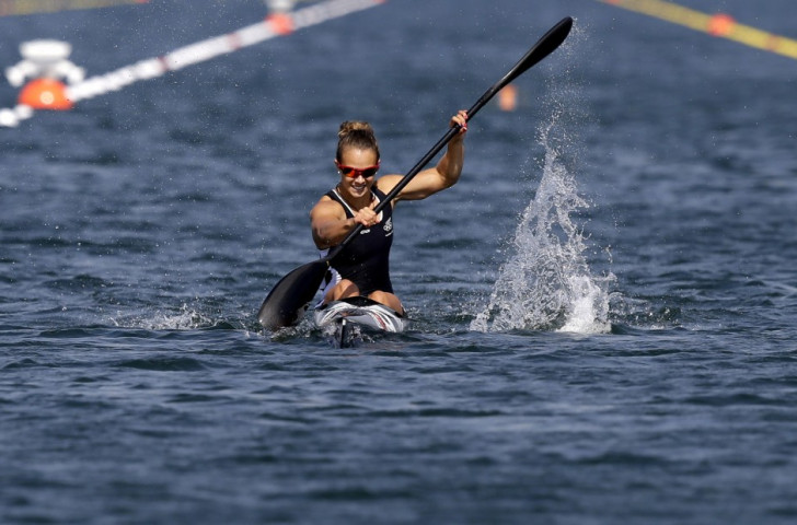 New Zealand's Lisa Carrington triumphed in the K1W 200m event