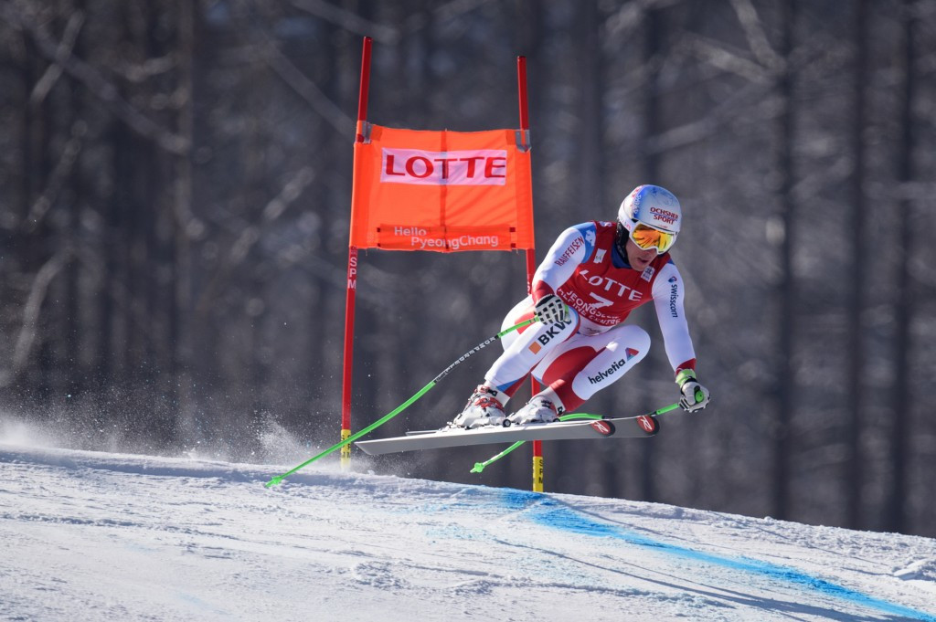 Carlo Janka on his way to victory in Jeongseon today ©Getty Images