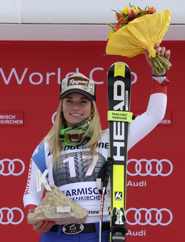 Lara Gut returned to winning ways in Germany