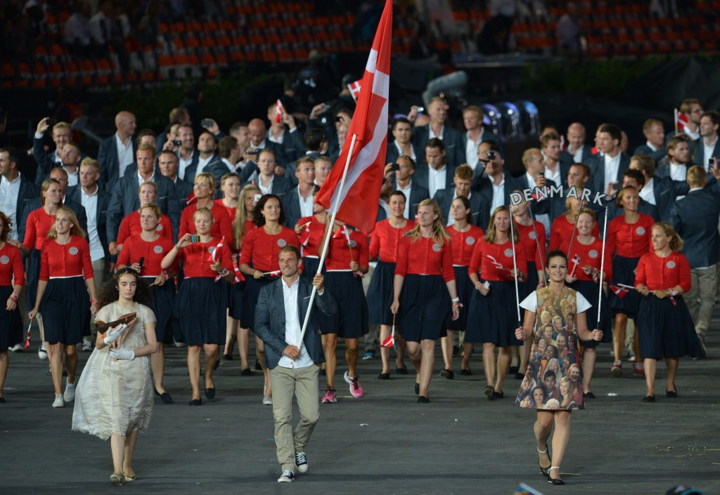 Kim Wraae Knudsen carried the Denmark flag at London 2012