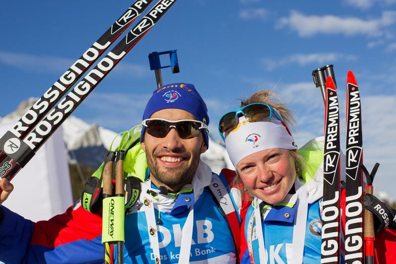 Fourcade and Dorin Habert win mixed relay title at IBU World Cup in Canmore
