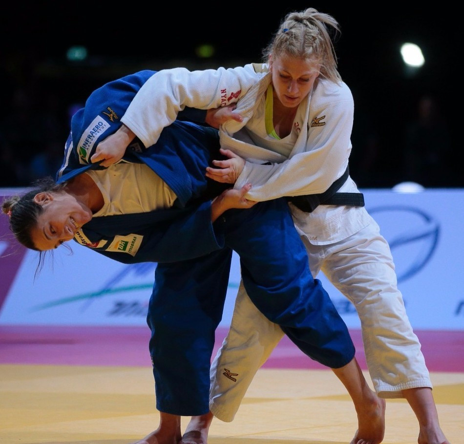 Brazil's Mayra Aguiar beat America's Olympic champion Kayla Harrison in the final of the under 78kg division ©Getty Images