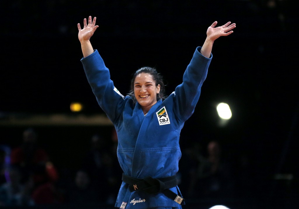 Brazil's Mayra Aguiar has now beaten American Olympic gold medallist Kayla Harrison in eight of their 15 head-to-head meetings, a run she will hope to continue at Rio 2016 ©Getty Images