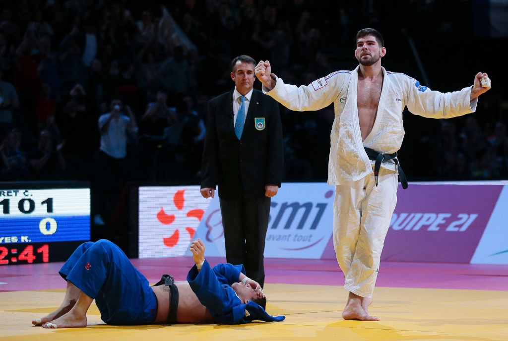 France's Cyrille Maret won the under 100kg at the Paris Grand Slam for a third consecutive year ©Getty Images