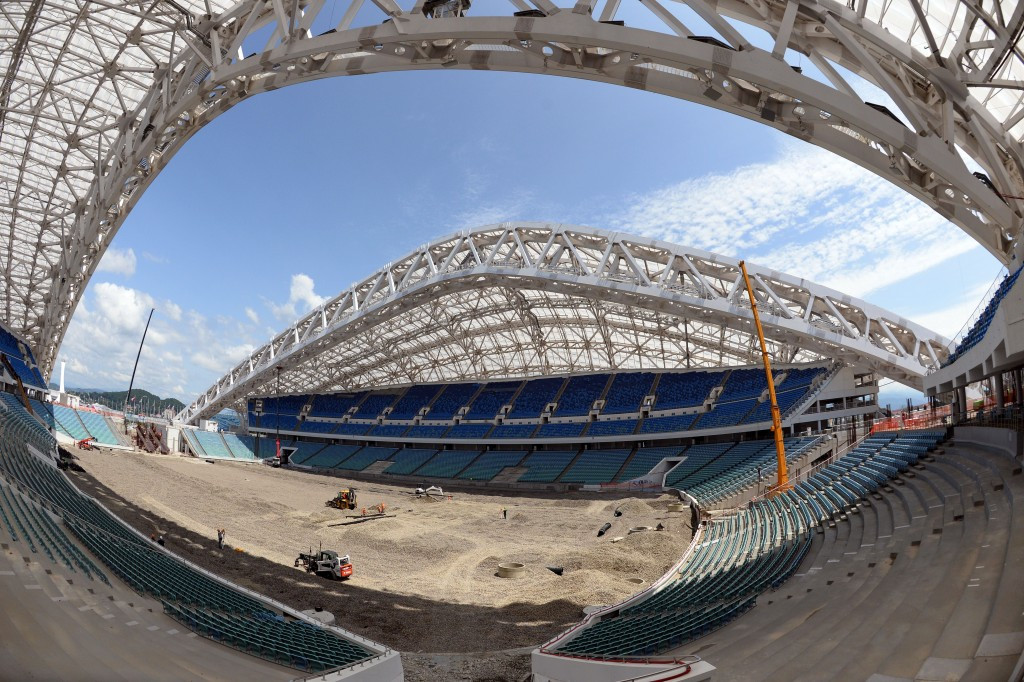 The Fisht Olympic Stadium is currently being prepared to host football matches at the 2018 FIFA World Cup