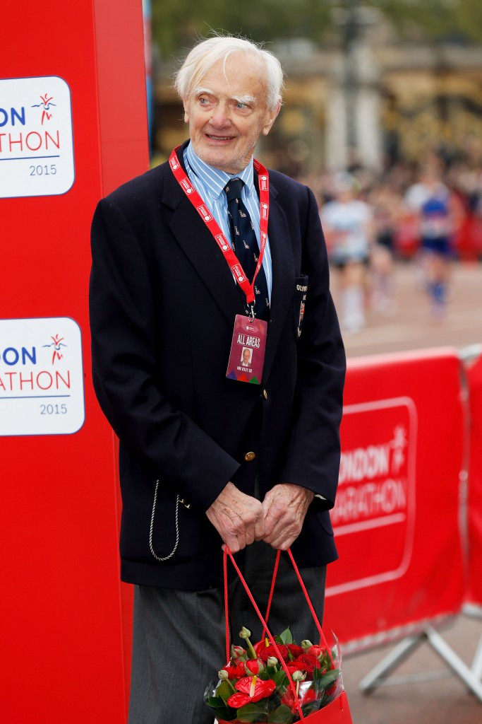 John Disley, pictured here at last year's race, remained involved with the London Marathon
