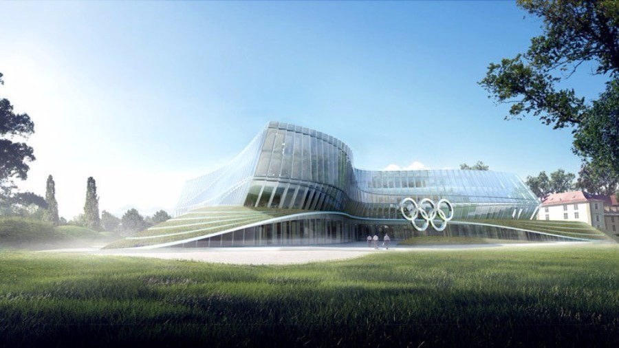 An artistic impression of the new IOC headquarters, due to be completed in 2020 ©Getty Images