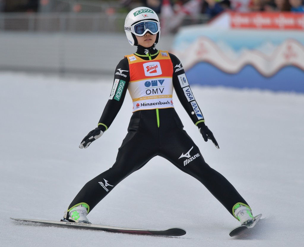 Japanese ski jumping sensation Sara Takanashi claimed the first Winter Youth Olympic gold at Innsbruck 2012 ©Getty Images
