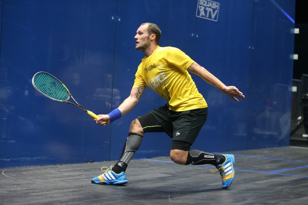 Reigning squash world champion Gregory Gaultier has withdrawn from the upcoming Windy City Open in Chicago after failing to recover from an ankle injury sustained during last month's J.P. Morgan Tournament of Champions in New York City ©squashpics.com