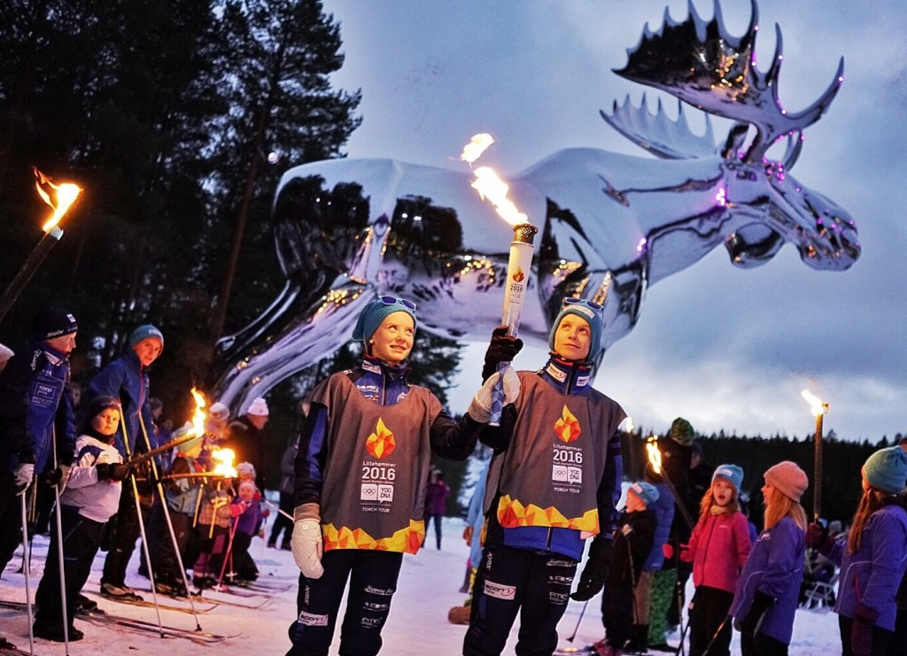Lillehammer 2016 Torch Relay continues ahead of Opening Ceremony