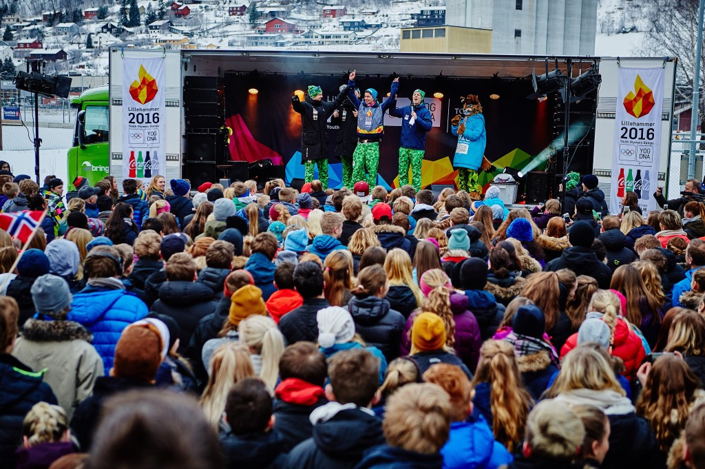 The Torch Relay for Lillehammer 2016 were well attended by the Norwegian locals ©Lillehammer 2016