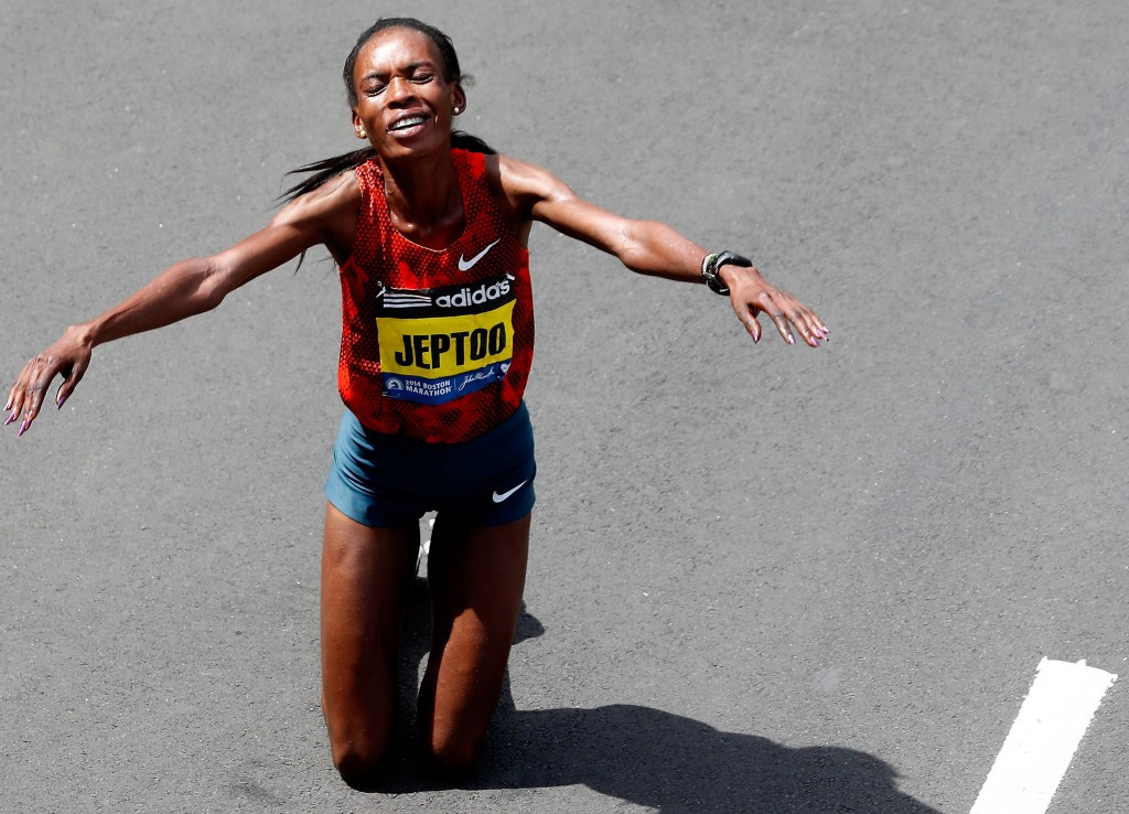 Two-time Boston Marathon winner Rita Jeptoo is one of around 40 Kenyan athletes to have failed doping tests since 2012, a problem highlighted by WADA Independent Commission chairman Richard Pound ©Getty Images