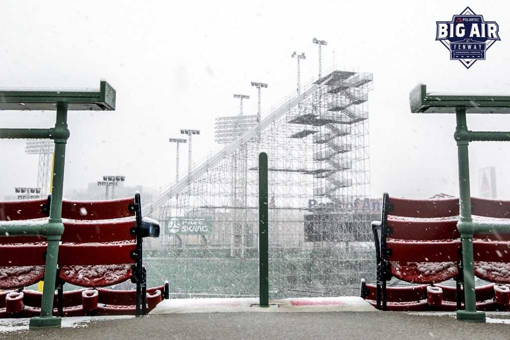 Fenway Park ready for skiing's first Big Air World Cup