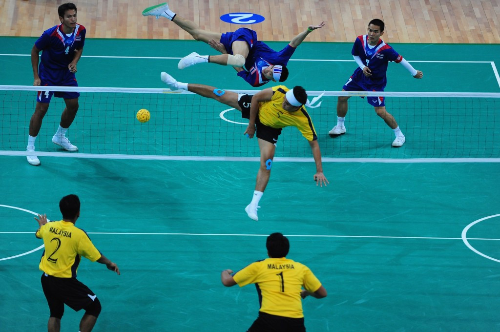 Sepak takraw was one sport from which Malaysian athletes incurred heavy fines at the Asian Games ©AFP/Getty Images