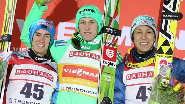 Prevc ties Slovenian record for Ski Jumping World Cup wins after Trondheim triumph