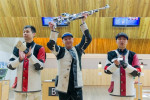 Sidi shoots way to gold on opening day of ISSF Rifle and Pistol World Cup