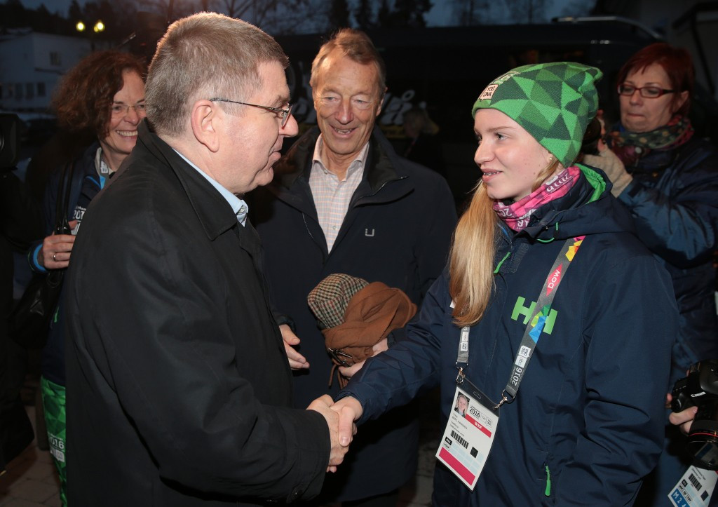 Bach insists Norwegian people will embrace Olympic concept after meeting athletes at Lillehammer 2016