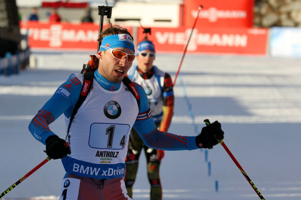 Anton Shipulin was second behind the Norwegian