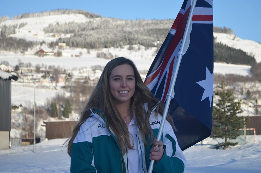 Snowboarder Emily Arthur has been named as the Flag bearer for the Australian team ©AOC