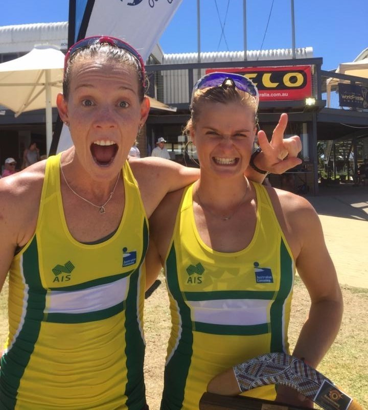 Alyssa Bull and Alyce Burnett capped off a successful opening day of racing for hosts Australia at the Oceania Canoe Sprint Championships in Adelaide by securing two Olympic quotas with victory in their K2 500 metre heat ©Canoeing Australia