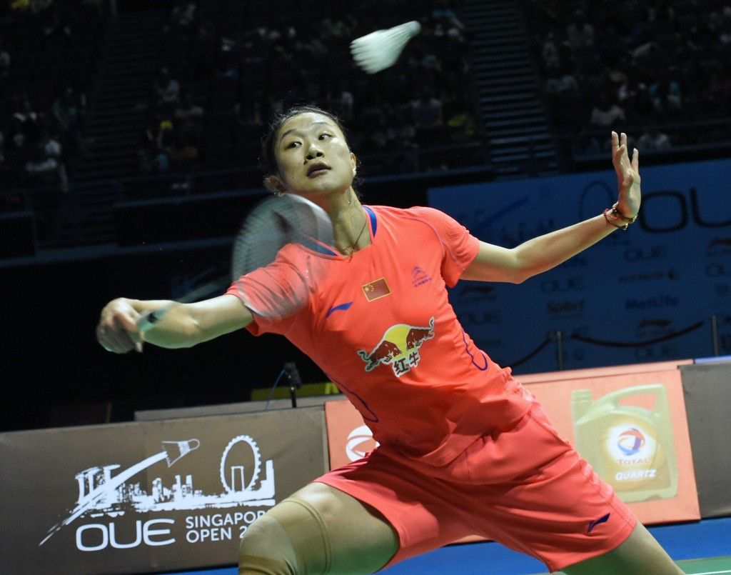 Sun Yu of China, pictured competing at the Singapore Open, is through to the final ©Getty Images
