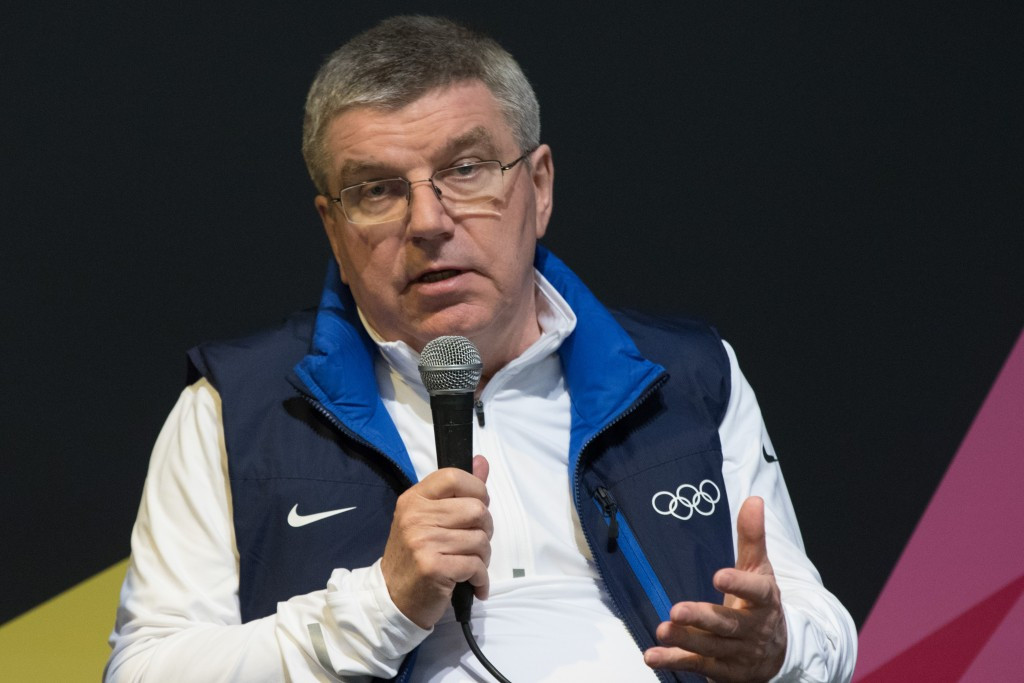 IOC President Thomas Bach claims there is no ban on bid cities attending Lillehammer 2016, even though they all received letters last month warning them not to come and Paris Mayor Anne Hidalgo cancelled her trip because she was told it would break the rules ©Getty Images