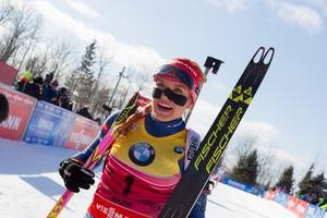 Czech Republic's Gabriela Soukalová made it two wins in as many days at the IBU World Cup in Presque Isle after claiming victory in the women's 10 kilometre pursuit ©IBU/Christian Manzoni