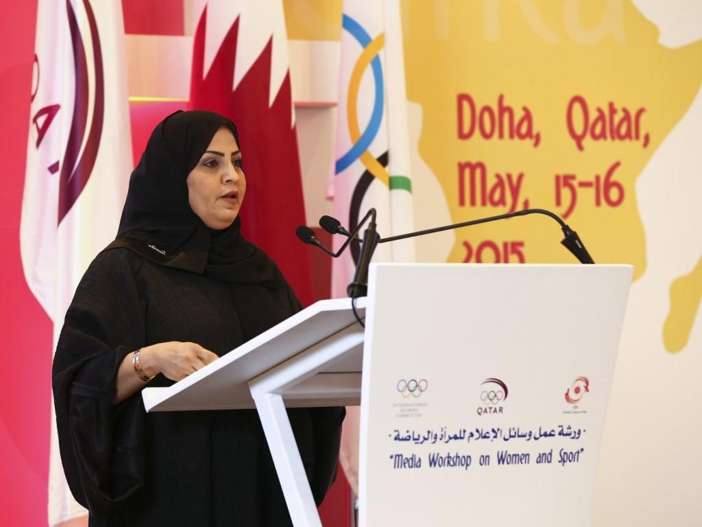 Qatar Women's Sport Committee President Ahlam al-Mana was the keynote speaker at the workshop