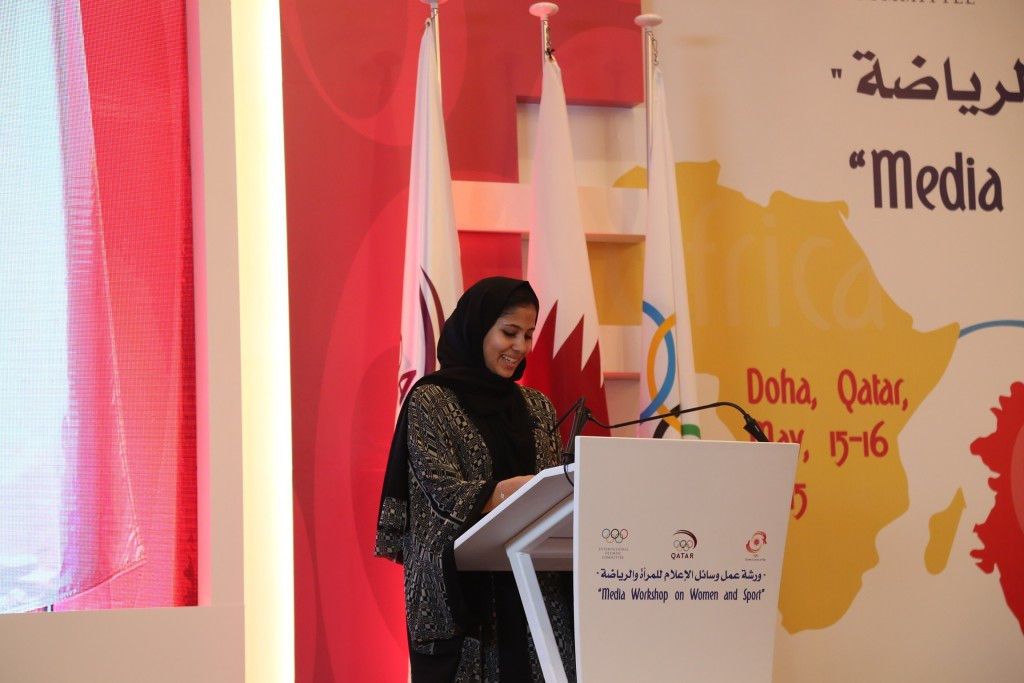 Mariam Farid, a promising young hurdler who was an Ambassador for Doha's successful bid for the 2019 World Athletics Championships, also spoke at the workshop