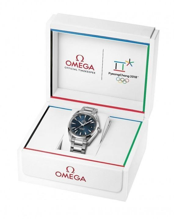 The watch comes presented in an Olympic-themed case