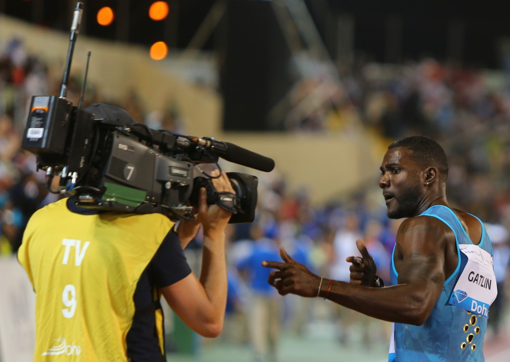 "Gatlin claims he has been ""kicked out"" of Beijing IAAF World Challenge by organisers"