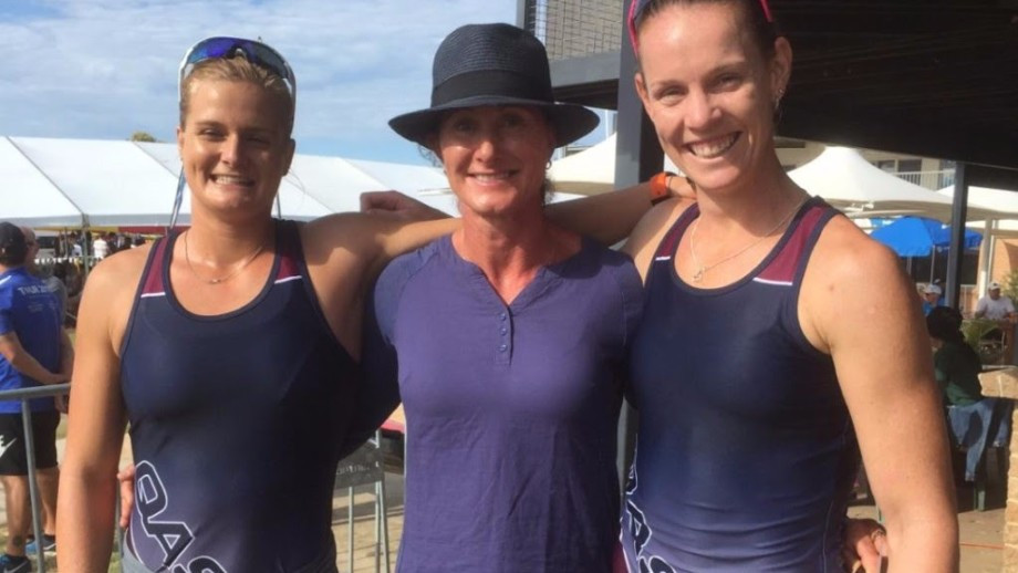 Alyssa Bull and Alyce Burnett moved to the brink of securing a place on Australia's Olympic team for Rio 2016 after claiming victory in the women's K2 500 metres final at the Oceania Canoe Sprint Championships in Adelaide ©Canoeing Australia