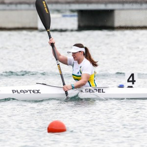 Australia's Susan Seipel won the K1 500 metres and V1 500m events at the Oceania Canoe Sprint Championships in Adelaide today, taking her gold medal tally to four ©Canoeing Australia
