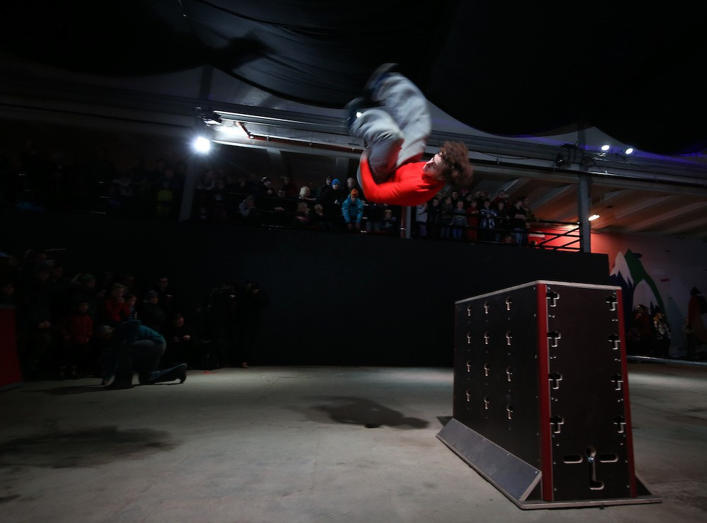 Parkour was exhibited at last year's Winter Youth Olympic Games in Lillehammer ©YIS/IOC