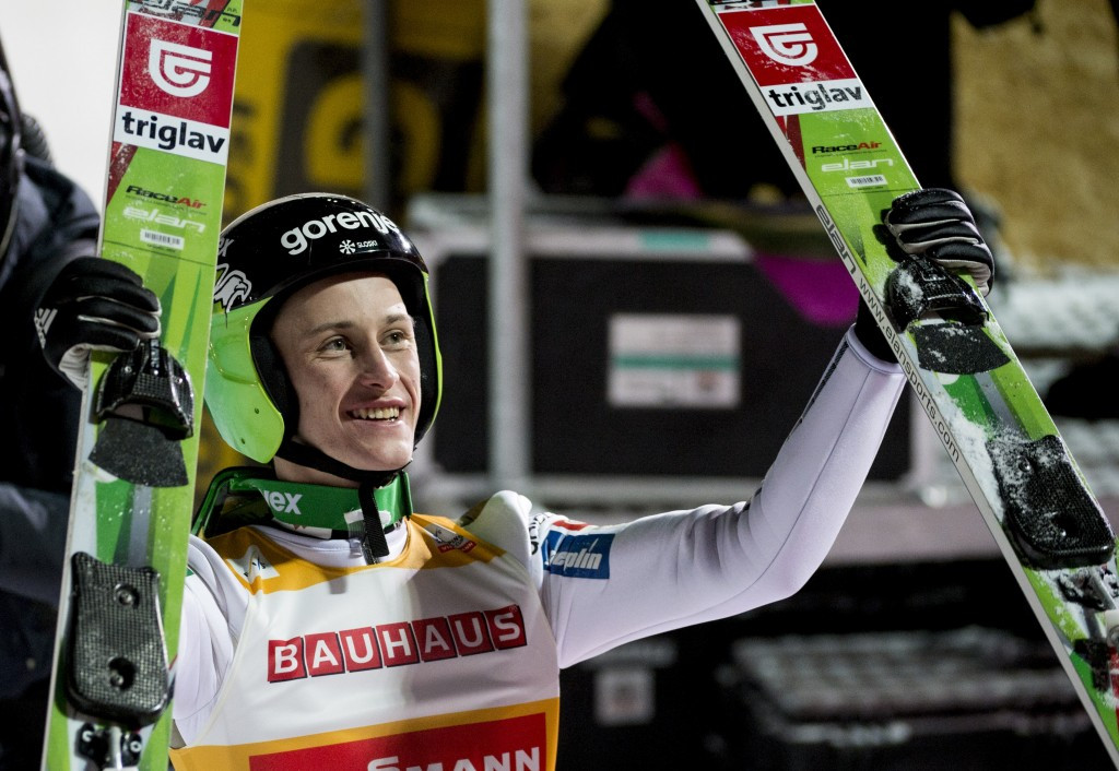 Prevc returns to top of FIS Ski Jumping World Cup podium in Vikersund