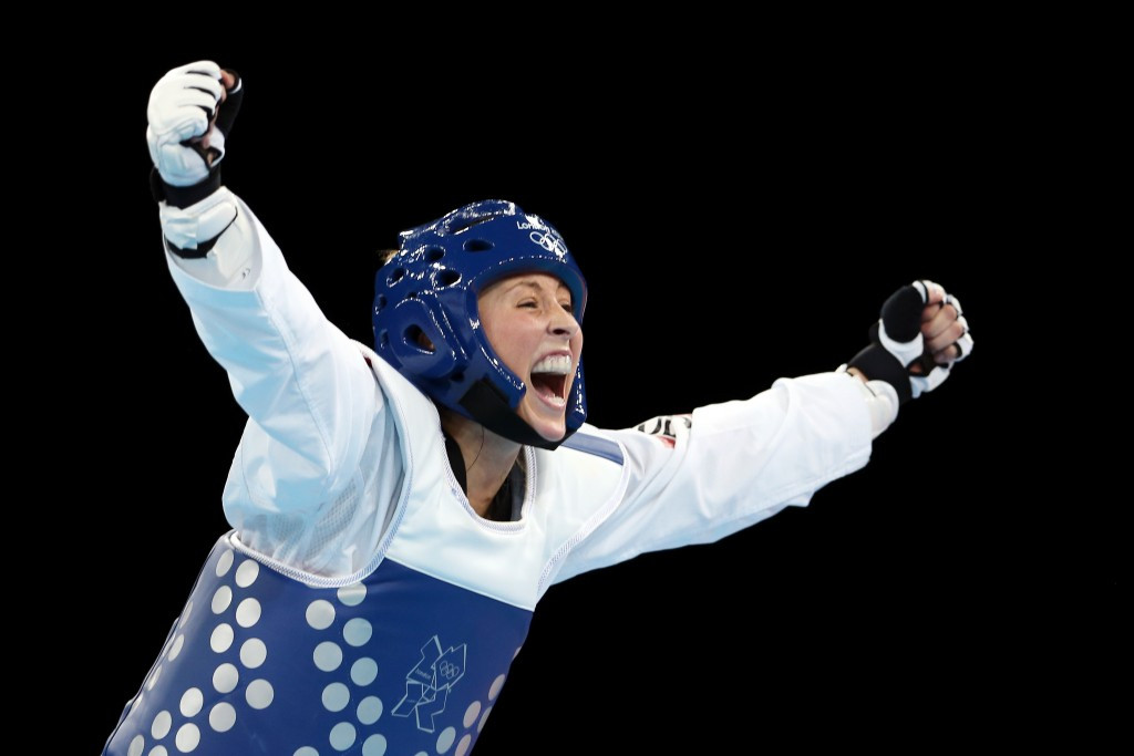 Britain's Jade Jones, pictured celebrating gold in what was one of the highlights of London 2012, was one to fall afoul of electronic problems at the World Championships ©Getty Images