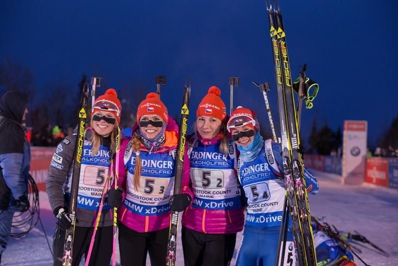 The Czech Republic clinched the women's 4x6km relay honours at the penultimate IBU World Cup event of the season