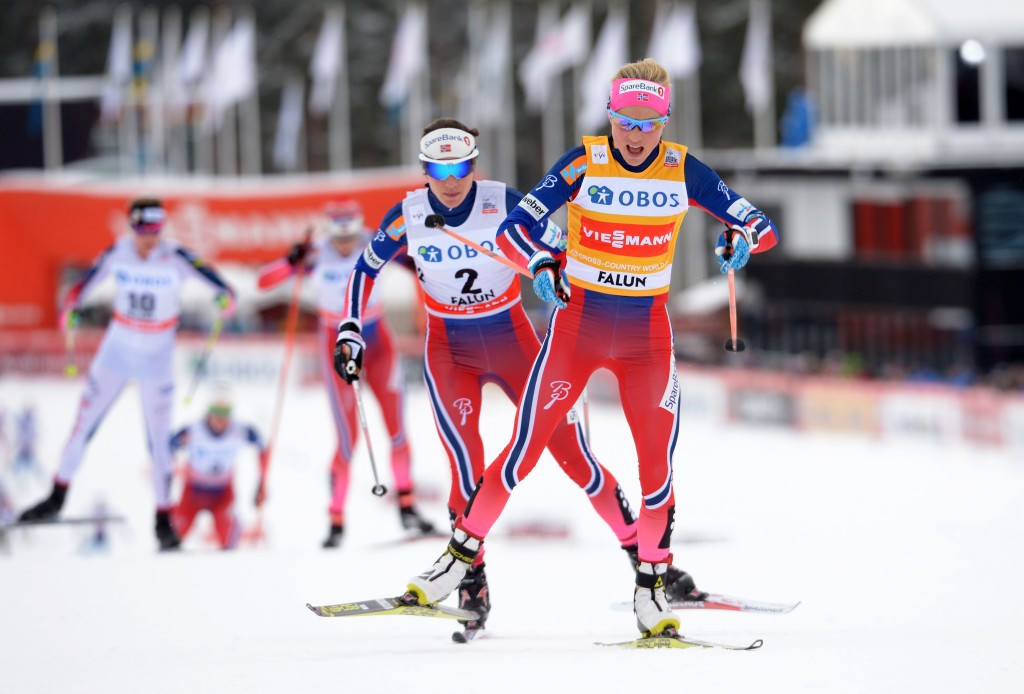 Johaug joins elite group with 10km victory in Falun