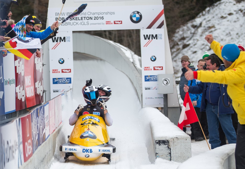 Germany's Friedrich claims third consecutive two-man bobsleigh world title